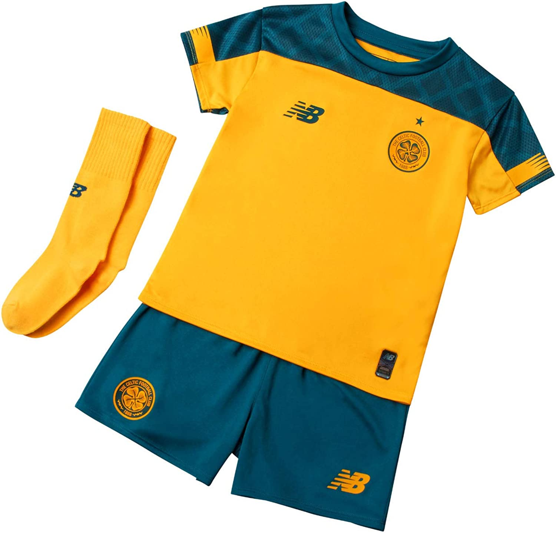 New Balance 2019-2020 Celtic Away Little Boys Mini Kit