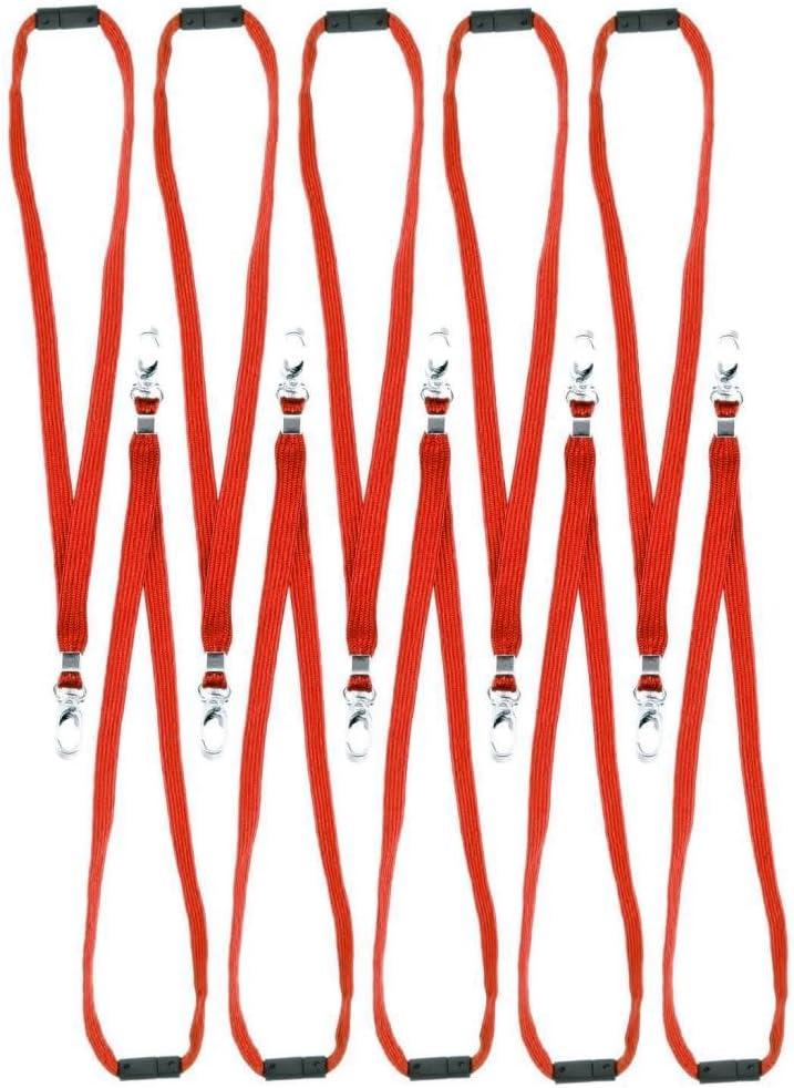 Breakaway Safety Lanyard Neck Strap Swivel Metal Clip for Id Card Holder Pull Quick Release Design Lanyards Bulk 10pcs Black