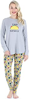 Frankie & Johnny Women's Sleepwear Knit Long-Sleeved Food Themed Tunic and Leggings Pajamas PJ Set