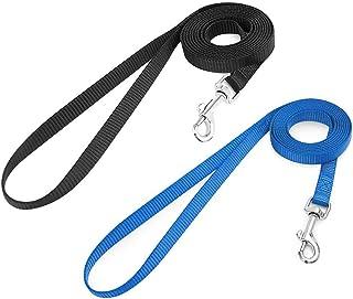 rabbitgoo 2 Pack Cat Leashes - Long Nylon Pet Leash, Escape Proof Durable Walking Leads, Easy Control Outside Cat Leash wi...