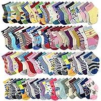 20-Pairs Baby Socks Wholesale for Infant Toddler Kids Children (Pattern at Random)
