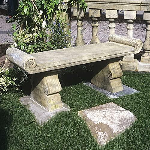 Gartentraum Antica panchina in Pietra per Il Giardino - Cambridge