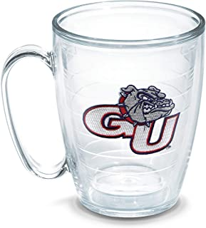Tervis 1048783 Gonzaga University Emblem Individual Mug, 16 oz, Clear