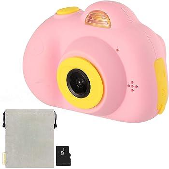 SweetHeart D6U 子供用デジタルカメラ 子供プレゼント 前後2600万内挿画素 26MP 2.0インチIPS画面 多機能 子供カメラ (32GB容量MicroSDカード付き, ピンク)