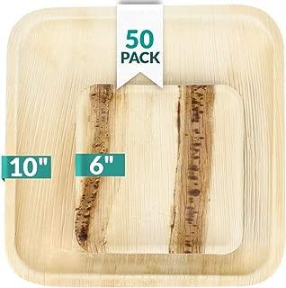 Palm Leaf Plates Set Square (50 pack) - 10