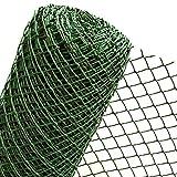Valla de plástico de 1,5 m² en 1,5 m de ancho, para fijación de gancho, valla de jardín, malla...