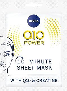 Nivea Q10 Power Anti-rimpel + versteviging 10 minuten doekmasker, verpakt per 5 stuks (5 x 1 stuks), gezichtsmasker met an...