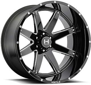 """H109 Alpha 20x9 5x5/5x127 0 Black Milled Wheels(4) 78.1 20"""" inch Rims lot (4 items per lot)"""