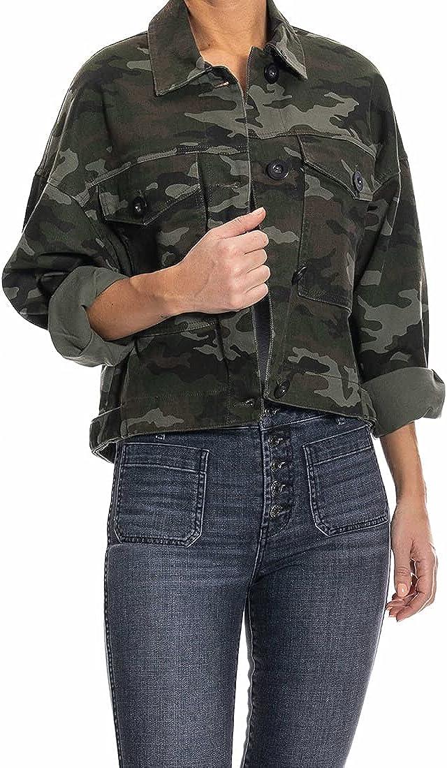 O A T NEW YORK Women's Oversized Camo Jacket