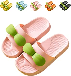 NADARDA Boys Girls Slide Sandals, Cute Sapling Kids Slippers Outdoor Beach Pool Sandal Soft (Toddler/Little Kid)