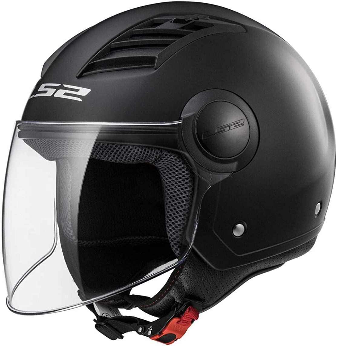 LS2, casco moto jet Airflow negro mate, XL