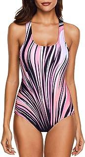 kolila Womens One Piece Swimsuit Bathing Suit for Athletic Sport Training Exercise Racing Swimwear Training for Women