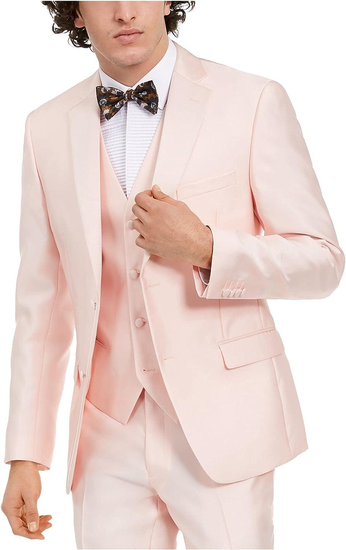 Alfani Mens Slim Fit Contrast Trim Tuxedo Jacket