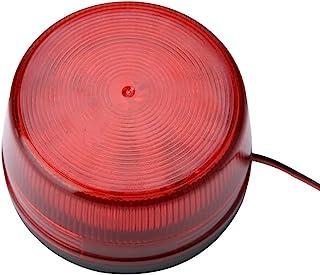 Röd säkerhet Strobe Light, roterande lampskärm Signal Beacon lampa för räcken för olika vägkottar