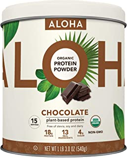 Sponsored Ad - Plant-Based Protein Powder | Organic Chocolate Keto Friendly Vegan Protein with MCT Oil, 19 oz, Makes 15 Sh...