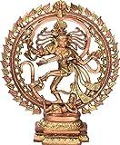Exoticindia A Visual Representation Shabda Brahman Statue, Amazing Copper Gold