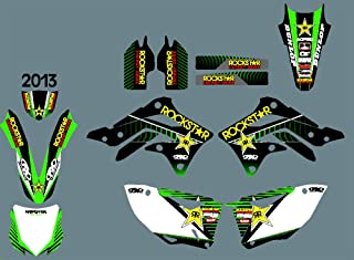 DST0361 Custom Kawasaki motorcycle Decal Kit Motorcross Graphics dirt bike Sticker for Kawasaki KXF450 2013 3M Adhesive Decals