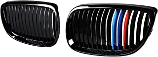 Astra Depot Kidney Grille Compatible for BMW 3-Series 07-10 E92 Coupe E93 Convertible 08-13 M3 2DR (Single Line, Glossy Black M Color)