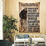 HANKCLES African American Black Girl Tapestry to My Daughter Inspirational Quote Tapestries Wall Art 90x60Inch Hippie Bedroom Living Room Dorm Wall Decor Wall Hanging Throw Tablecloth Bedspread