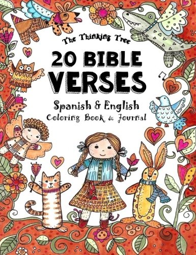 20 Bible Verses - Spanish & English - Coloring Book: A Pocket Sized...