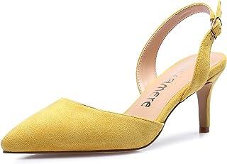 CASTAMERE Bout Pointu Slingback Chaussures Talons Femme Bout Fermé Escarpins Kitten-Heel 6CM