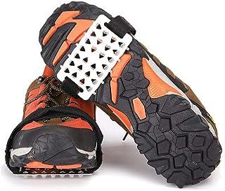 Jogging Nero LNone LjQQjDz Ramponi Universali Scarpe Antiscivolo Pinza per Ghiaccio Trazione A Piedi 18 Denti Scarponi da Trazione Tacchetti A Spillo Scarpette A Rampone Picchi per Passeggiate
