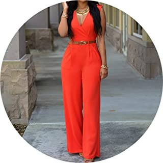 cedc4f3fa692 The small cat Women Summer Sexy High Waist Romper with Belt Elegant for  Ladies Sexy Summer