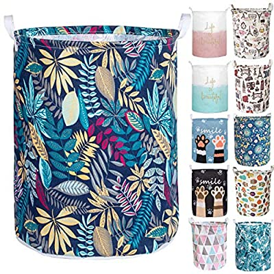 Merdes 19.7?? Waterproof Foldable Laundry Hamper, Dirty Clothes Laundry Basket, Linen Bin Storage Organizer for Toy Collection