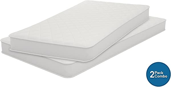 Signature Sleep 6 Inch Coil Mattress Set Of 2 Mattresses Soft Cover Twin Size