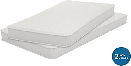 Signature Sleep 6-Inch Coil Mattress, Set of 2 Mattresses, Soft Cover, Twin Size