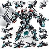 LUKAT Roboter Bausteine Spielzeug ab 6 7 8 9 10 Jahre für Jungen, 25-in-1 STEM Konstruktionsspielzeug 577 Teile Gebäude Lernspielzeug Flugzeug Baukasten Pädagogische Geschenk für Jungen/Mädchen/Kinder