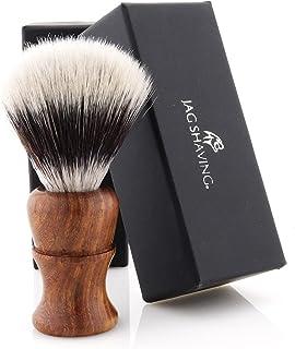 Jag Shaving Scheerkwast - Synthetische Silvertip scheerkwast - Duurzame scheerkwast van hout - Elegant design houten grip...