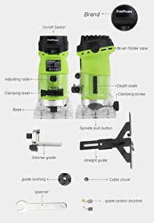 """Seentech 6mm 1/4"""" Woodworking Trimmer Tool 550W Power Electric Router Woodwork European plugsment"""