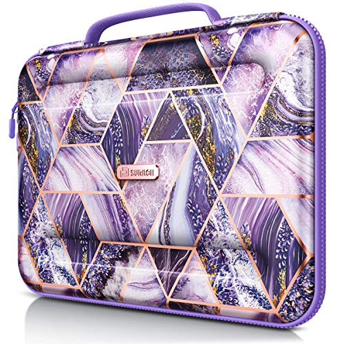 SURITCH Laptop bag 13 inch-13.3inch Waterproof Laptop Case Sleeve with Accessory Pocket Compatible with MacBook Air 13-inch Retina, MacBook Pro 13' Notebook Protective Cover for Women Men (Purple)