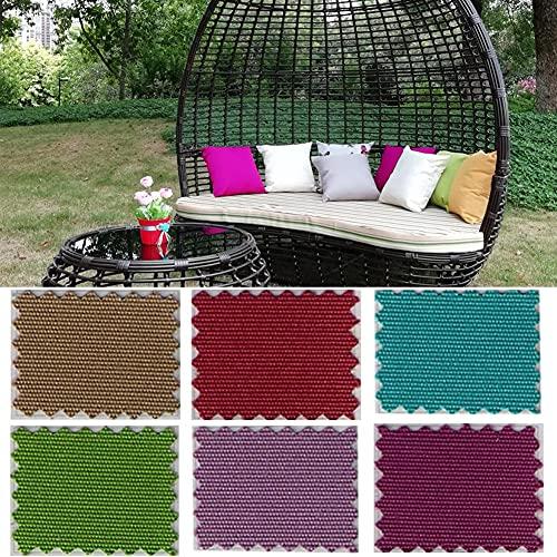 YSGLIFE Lot de 2 housses de coussin imperméables, pour décoration de voiture, lit, canapé, chaise, meubles de jardin, utilisation en extérieur, 50 x 50 cm