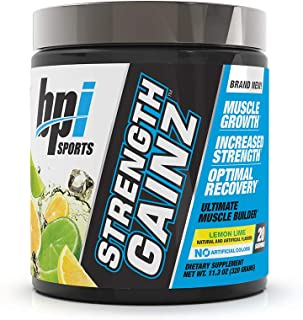 BPI Sports Strength Gainz, Best Pre & Post Workout, Muscle, Recovery, Endurance, Creatine, Dextrose, Peak O2, Amino 9, Him...