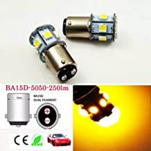 6V BA15D 1142 1078 5050 8-SMD 250LM LED Replacement Bulb For Reverse light, Turn signal light,Tail light, Daytime Running Light