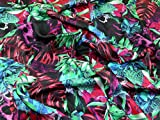 Minerva Crafts Italienisches Blumendruck 100% Seide Satin
