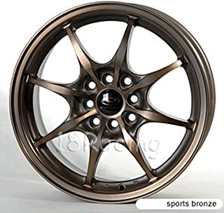 4 PCS ROTA CIRCUIT 8 WHEELS 16X7 PCD: 4X100 OR 4X114.3 OFFSET:40 HB:73 FULL ROYAL SPORT BRONZE