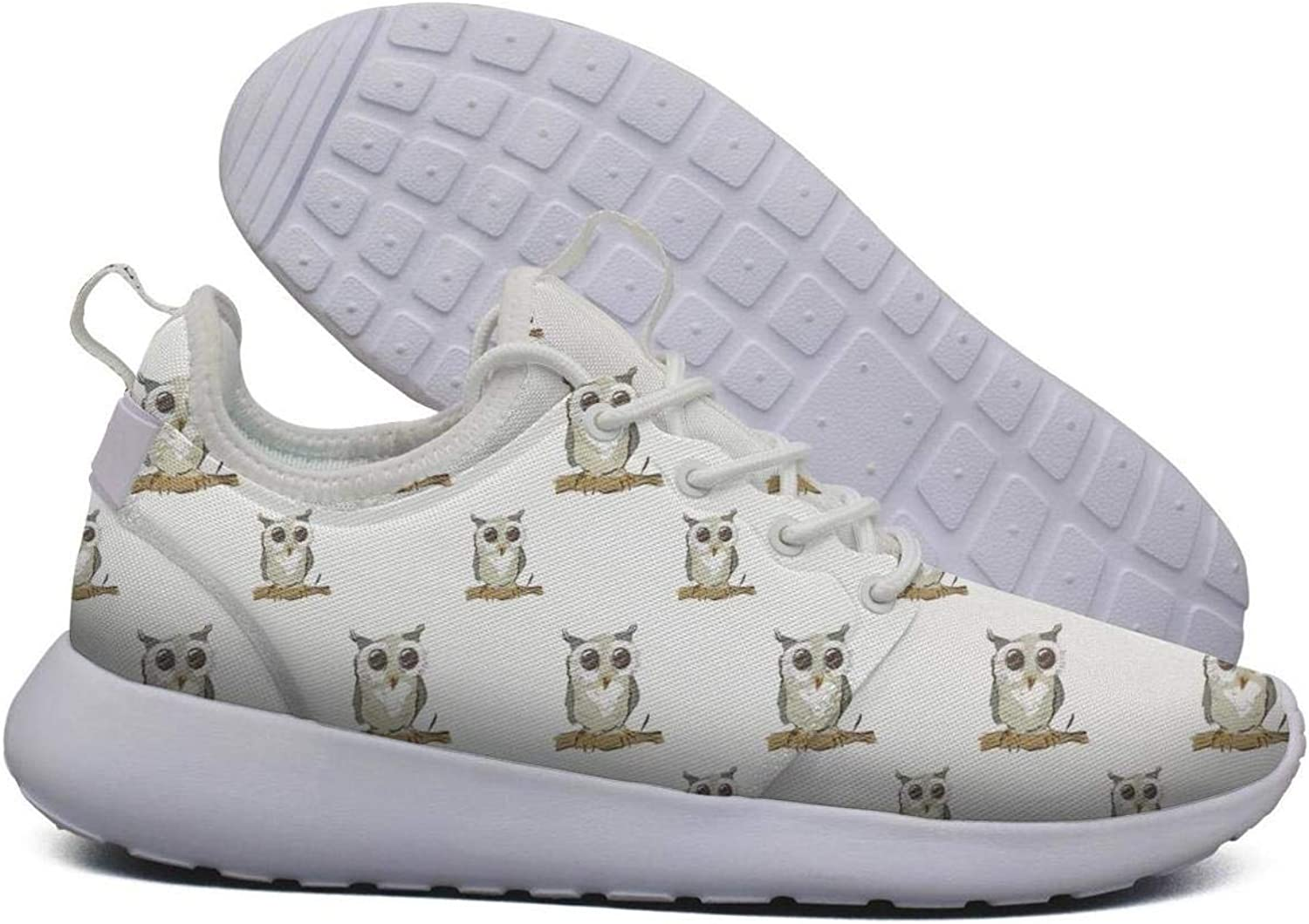 LOKIJM Bright colord Owl Print Gym shoes for Women Sports Comfortable and Lightweight Comfortable Walking shoes