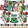 ピクセルビデオゲーム バルーンセット HAPPY BIRTHDAY 装飾 風船 誕生日 飾り付け バルーン パーティー かわいい 女の子 男の子 誕生日 装飾 バースデー 飾りつけ 50点セット