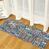 Alfombrillas de Cocina con impresión 3D Modernas, alfombras Antideslizantes absorbentes de baño, Alfombrillas de Entrada para el Dormitorio de la Sala de Estar del hogar A14 50x160cm