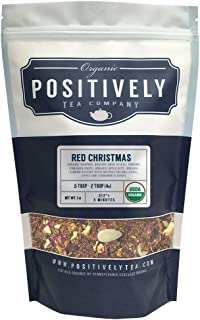 Positively Tea Company, Organic Red Christmas, Rooibos Tea, Loose Leaf, USDA Organic, 1 Pound Bag