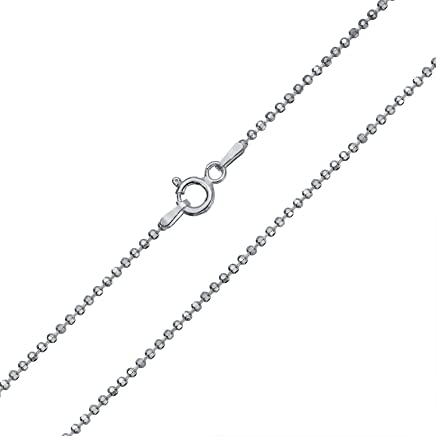 1.13mm Wishrocks Sterling Silver 18 Length Italian Crafted Sparkle Chain Necklace