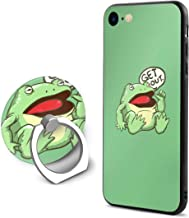 Neweast Get Out Something Awful Frog Case for iPhone 6/6s Plus Creative Fashion Phone Shell Cover with Ring Bracket Shockproof Anti-Scratch Case Ring Bracket with Mobile Phone Compatible