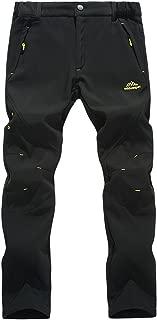 Rewalker Outdoor Windproof Waterproof Hiking SnowSki Pants Soft Shell Fleece for Men Women
