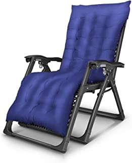 Recliner Sun Lounger Reclining Lounge Chair Garden Outdoor Terrace Thick Padded Thickened Multiple Positions (Color : 3)