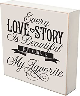 LifeSong Milestones Every Love Story is Beautiful But Our is My Favorite Wedding for Couple, Housewarming Gifts Ideas for Mr. and Mrs. Love Shadow Box (Every Love Story is Beautiful)