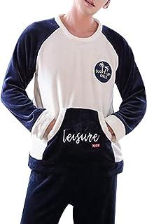 GOSO - Pijamas para niños, Forro Polar, Grueso y cálido Invierno para Adolescentes, Pijamas de Manga Larga para niño Grand...