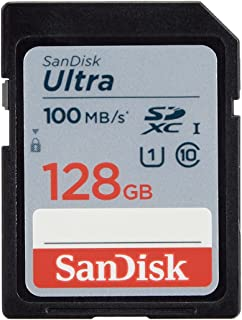 SanDisk 128GB Ultra SDXC UHS-I Memory Card - 100MB/s, C10, U1, Full HD, SD Card - SDSDUNR-128G-GN6IN